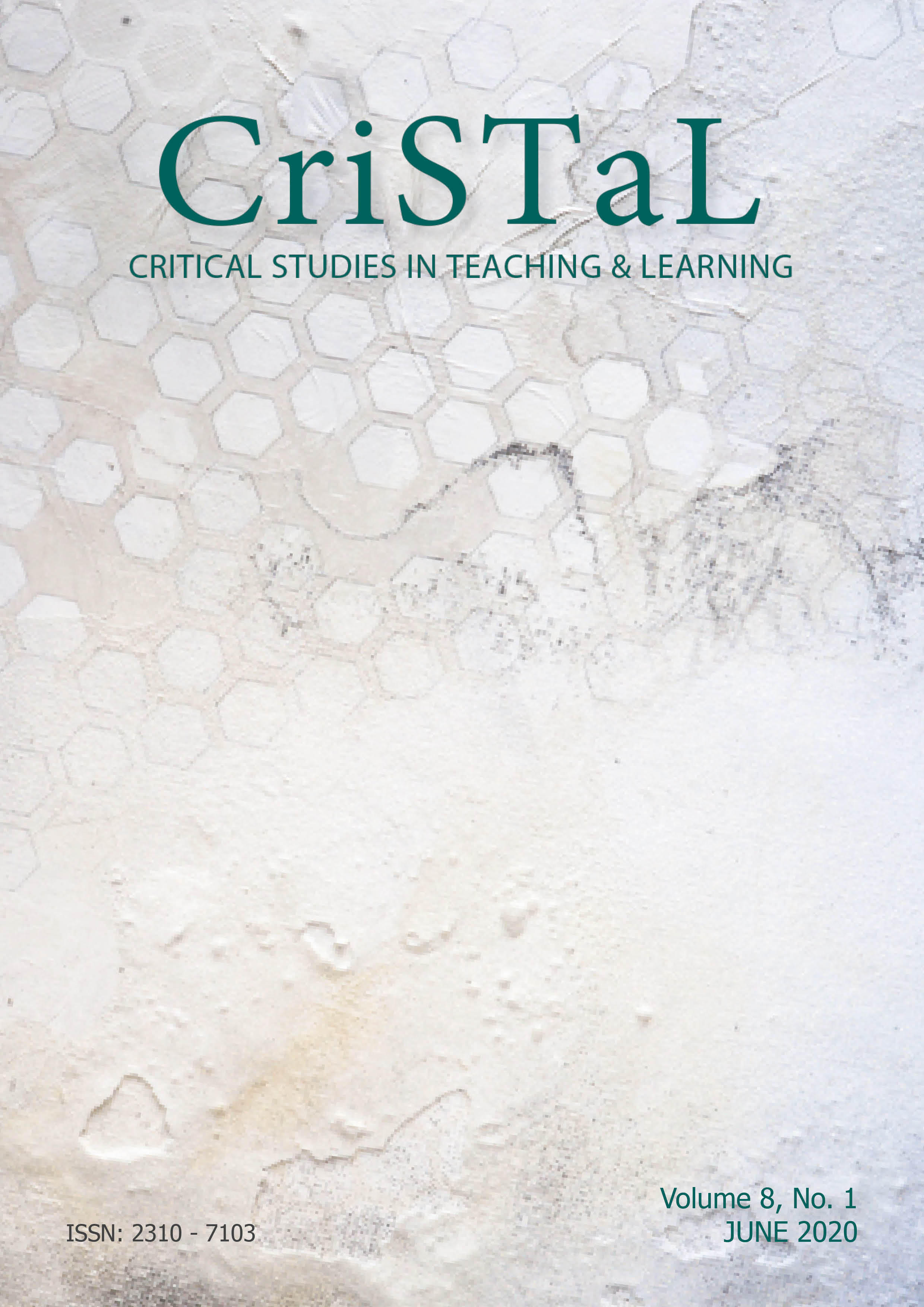 Cover of Vol 8 No 1 issue of CriSTaL