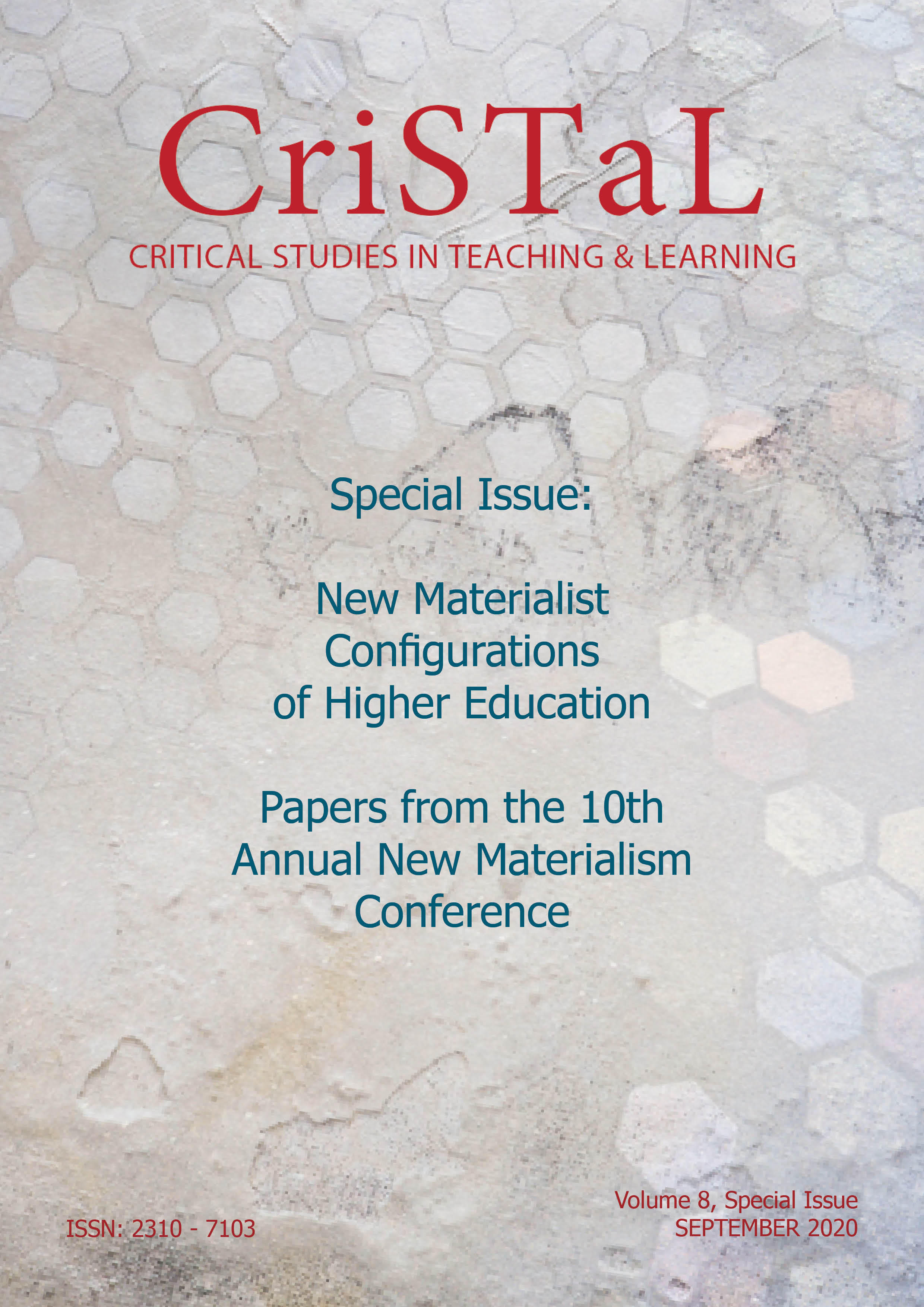 Cover of Vol 8 Special Issue of CriSTaL